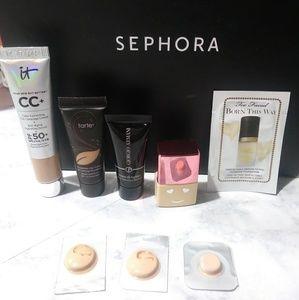 Foundation Samples Light/ Medium Skin tones
